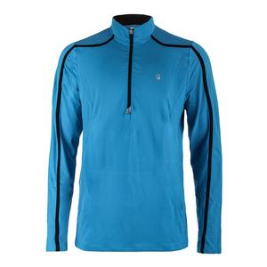 Men`s Break Point 1/4 Zip Tennis Pullover Blue Danube