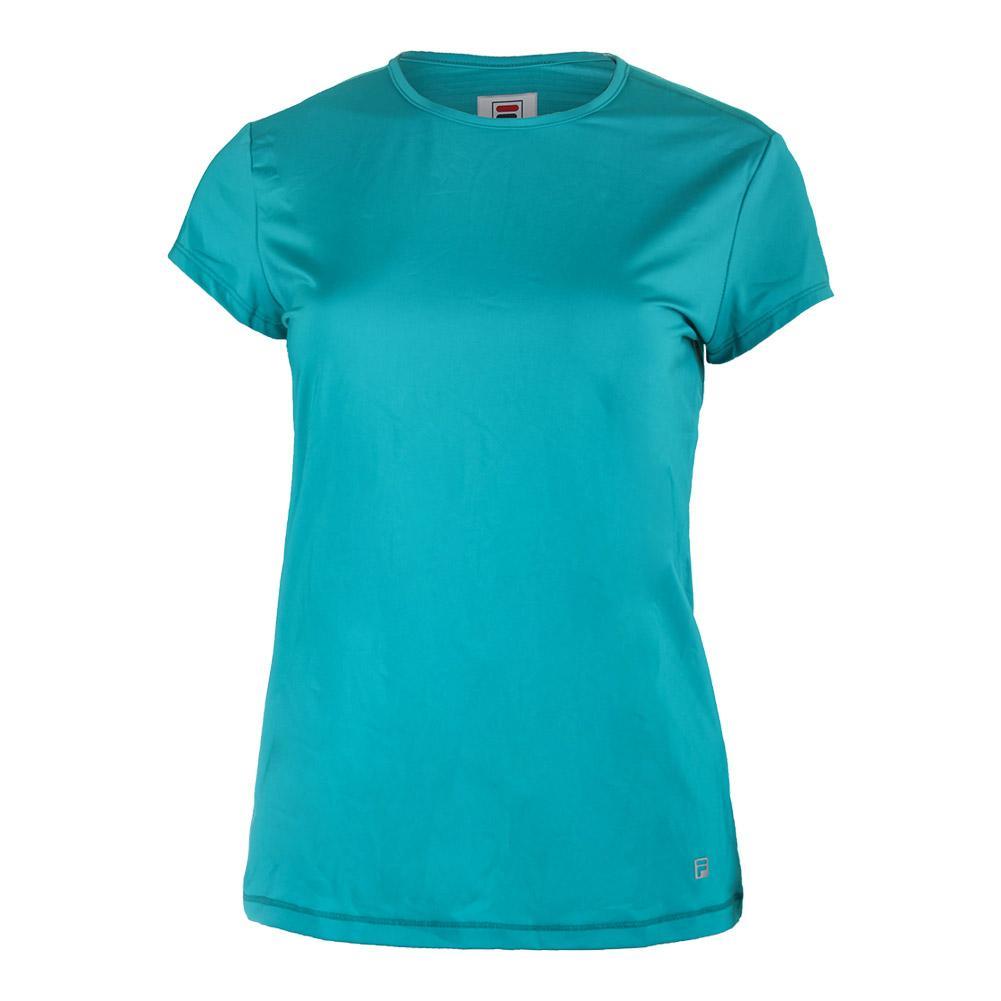 8dd069ca8cb FILA FILA Women s Court Allure Cap Sleeve Tennis Top Tabitha Teal