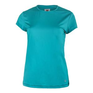 Women`s Court Allure Cap Sleeve Tennis Top Tabitha Teal