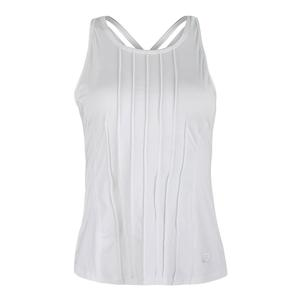 Women`s Court Allure Keyhold Tennis Tank White