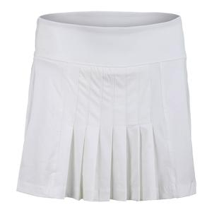 Women`s Court Allure Front Pleat Tennis Skort White