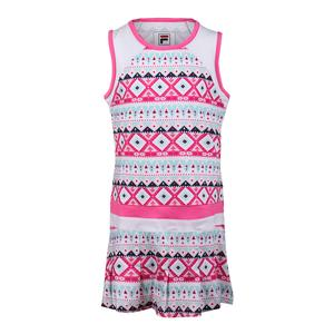 Girls` Moroccan Impressions Tennis Dress White and Sugar Plum