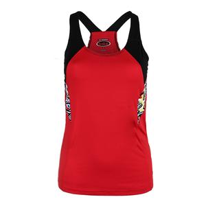 Women`s Graffiti Racerback Tennis Tank Red