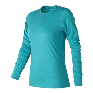 Women`s Heather Tech Long Sleeve Tennis Top Pisces