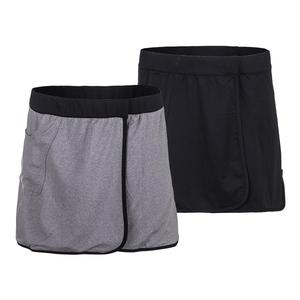 Women`s Briel Reversible Tennis Skirt Black and Heather