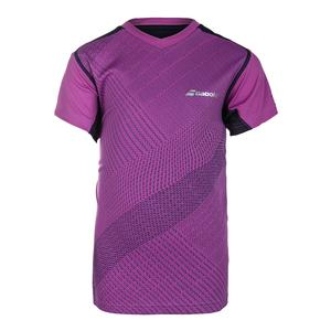 Boys` Performance V-Neck Tennis Tee Dark Pink