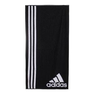 Large Tennis Towel Black and White