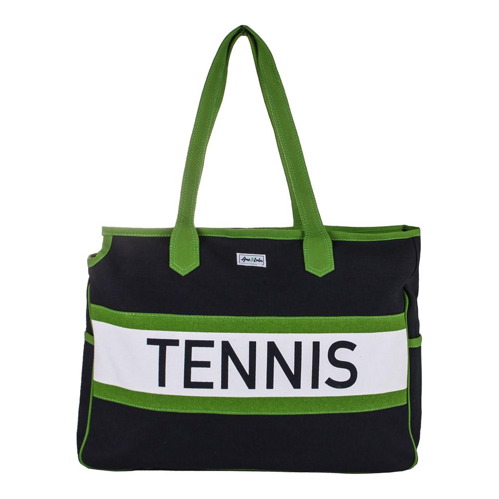 Women's Varsity Court Tennis Bag Navy And Green