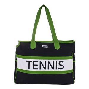 Women`s Varsity Court Tennis Bag Navy and Green
