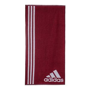 Small Tennis Towel Mystery Ruby and White