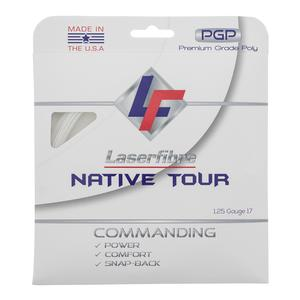 Native Tour 17G Tennis String White