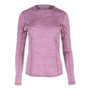 Women`s Interval Long Sleeve Tennis Top Grape Nectar