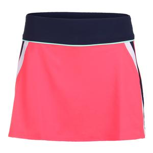 Women`s Heritage A Line Tennis Skort Diva Pink and Navy
