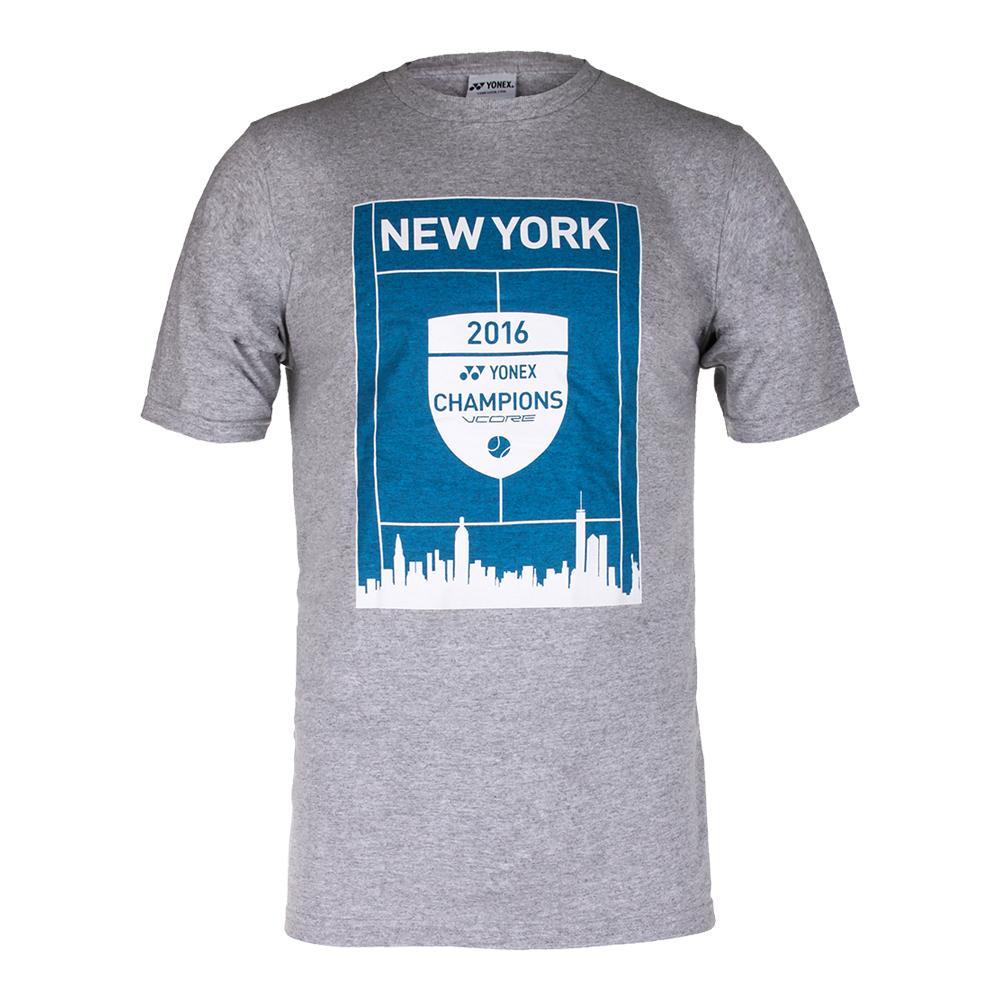 Unisex New York 2016 Champions Vcore Tennis Tee Gray