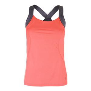 Women`s Game Day Strappy Tennis Tank Furo Coral