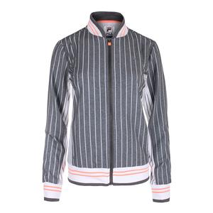 Women`s Game Day Tennis Jacket Charcoal Heather Stripe