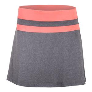 Women`s Game Day Flirty Tennis Skort Charcoal Heather and Furo Coral