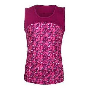 Girls` Abstract Court Tennis Tank Print