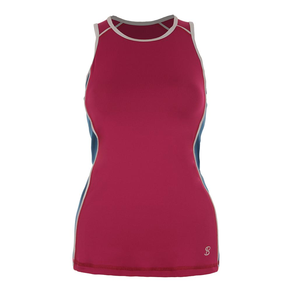 Women's Athletic Racerback Tennis Tank Wine