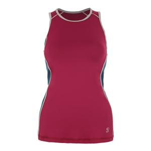 Women`s Athletic Racerback Tennis Tank Wine