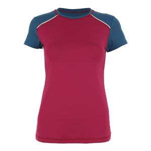Women`s Classic Short Sleeve Tennis Top Wine