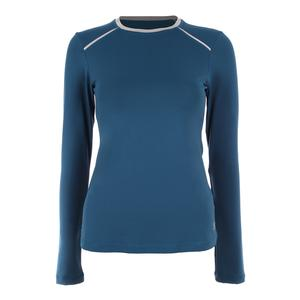 Women`s Classic Long Sleeve Tennis Top Tropico Blue