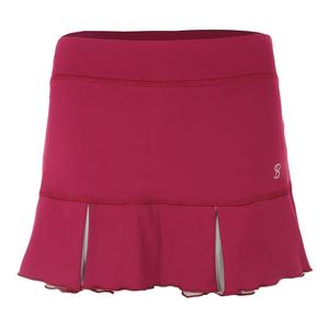 Women`s 13 Inch Tennis Skort Wine