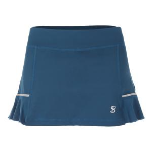 Women`s 12 Inch Tennis Skort Tropico Blue