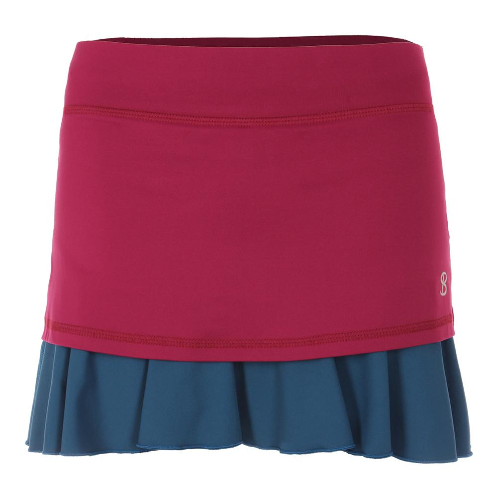 Women's 14 Inch Tennis Skort Wine
