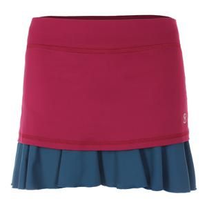 Women`s 14 Inch Tennis Skort Wine