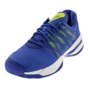 Men`s Ultrashot Tennis Shoes Strong Blue and Neon Citron