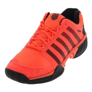 Men`s Hypercourt Express Tennis Shoes Neon Blaze and White