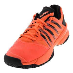 Men`s Ultrashot Tennis Shoes Neon Blaze and Black