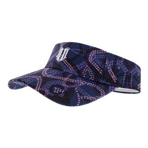 Women`s Tennis Visor Primitive Dots Print