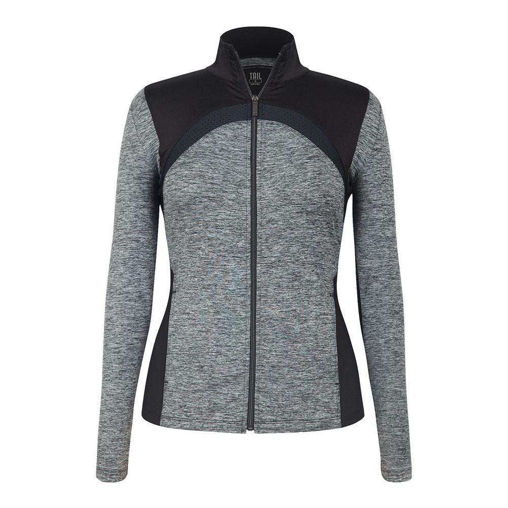 Women's Dover Tennis Jacket Light Gray Space Dye