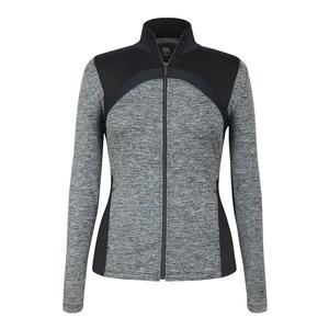 Women`s Dover Tennis Jacket Light Gray Space Dye