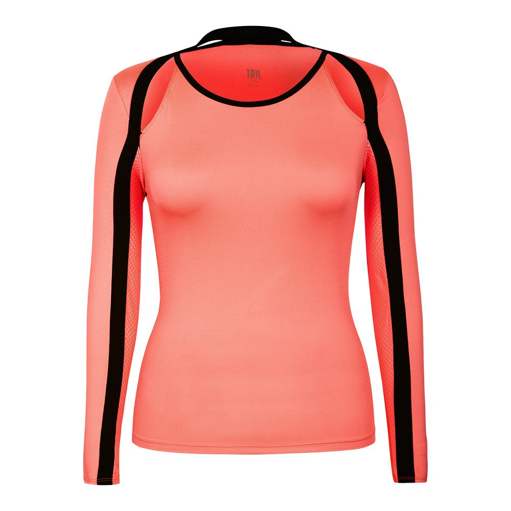 Women's Palmer Long Sleeve Tennis Top Sunrise
