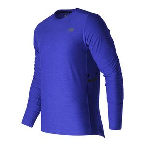 Men`s N Transit Long Sleeve Tennis Top Team Royal