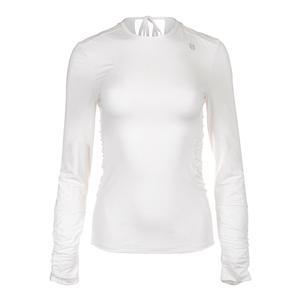 Women`s Exert Long Sleeve Tennis Top White