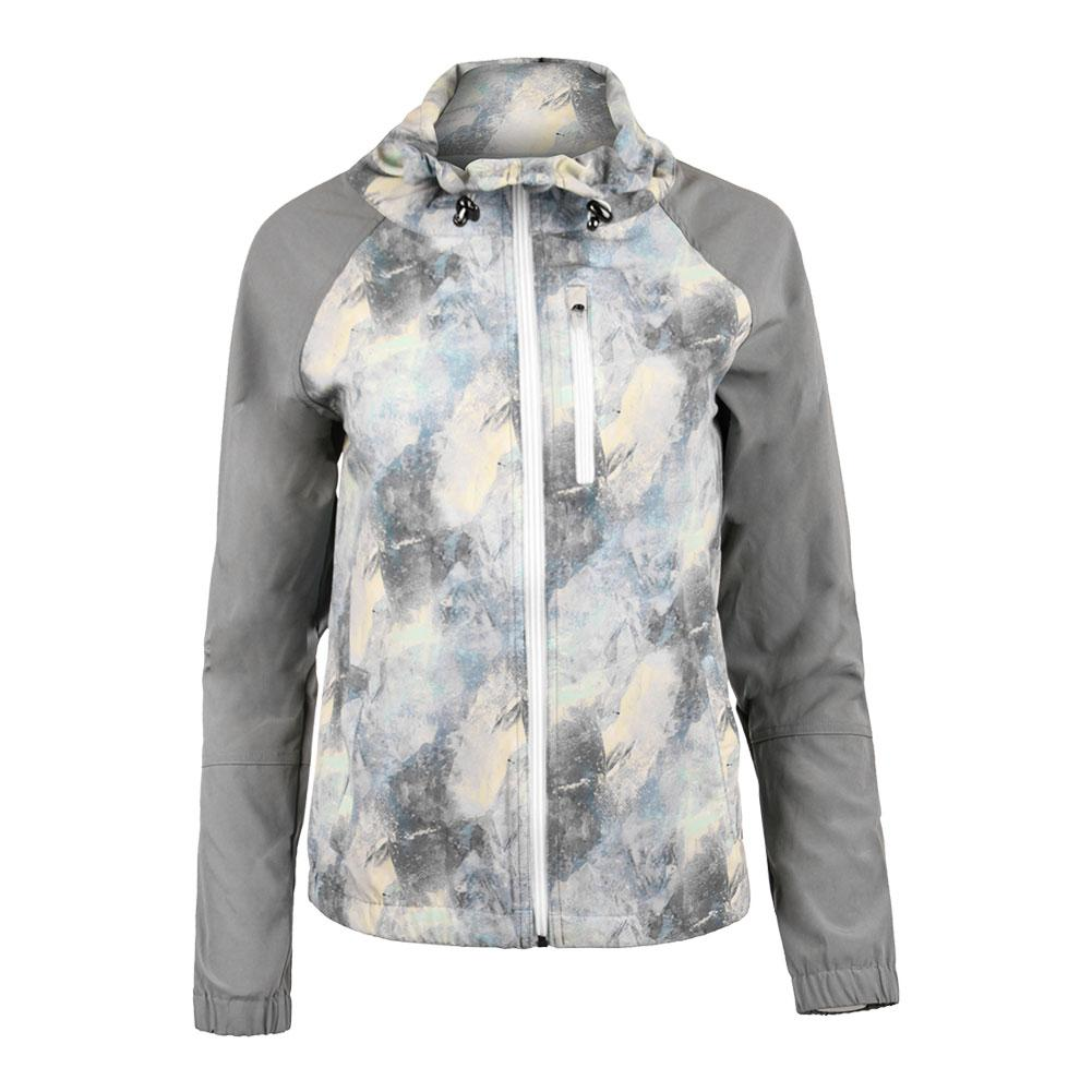 Women's Game Day Tennis Jacket Geo Print And Lead