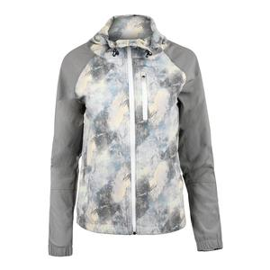 Women`s Game Day Tennis Jacket Geo Print and Lead