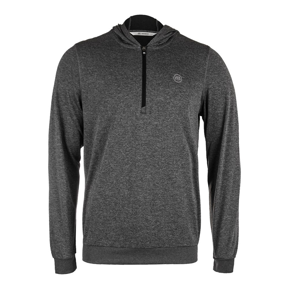 Men's The Finisher Long Sleeve Tennis Top Alloy And Black