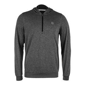 Men`s The Finisher Long Sleeve Tennis Top Alloy and Black