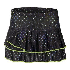 Women`s Cosmic Pleat Tier Tennis Skort Black