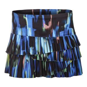 Women`s Northern Lights Pleat Scallop Tennis Skort Sapphire