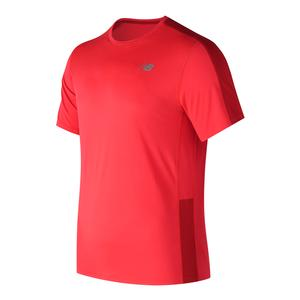 Men`s Accelerate Short Sleeve Tennis Top Energy Red