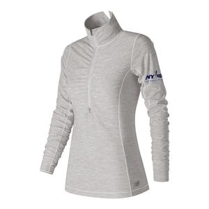 Women`s In Transit Half Zip Tennis Top Sea Salt Heather
