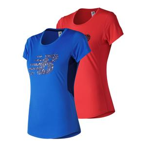 Women`s Accelerate Short Sleeve Printed Top