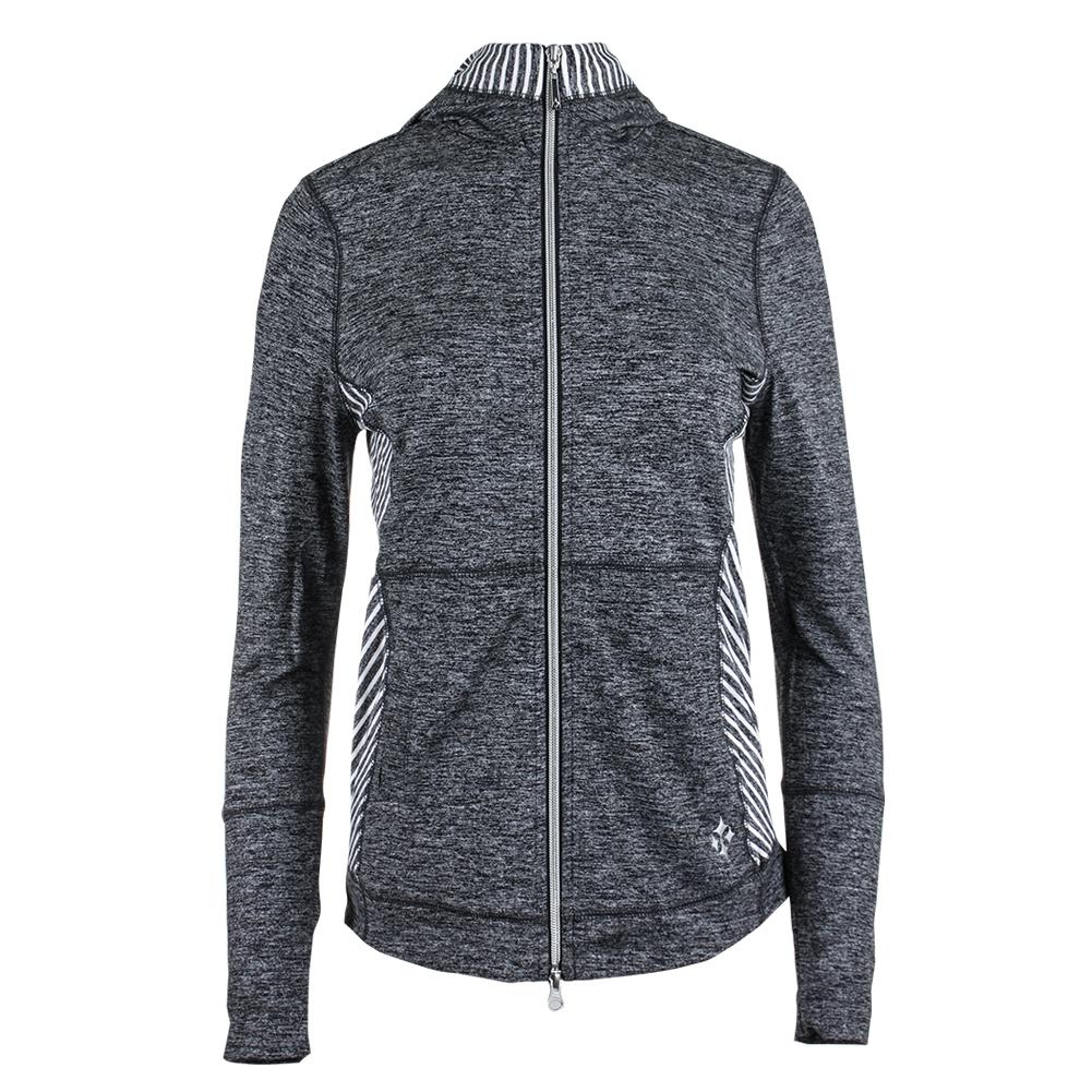 Women's Revolution Tennis Jacket Carbon Diagonal Stripe