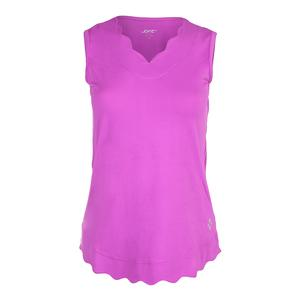 Women`s Scallop Tennis Tank Lotus